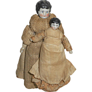Mother & Child Dolls House China Dolls c1900