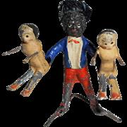 Golly & Peg Doll Twins c1910