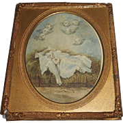 Miniature Watercolour In Gilt Frame c1900