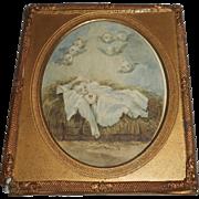 Miniature Watercolour In Gilt Frame c1900