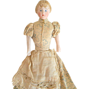 Bisque Dolls House Lady With Bun c1910