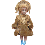 SFBJ All Bisque French Lilliputian Doll c1910