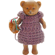 *Reserved*Hertwig Mother Bear In Crochet Clothing c1915