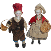 Tiny Rare Folklore Couple c1890