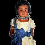 Lovely Antique 277 Dep Bahr & Proschild Bisque Head Mulatto Doll c1890
