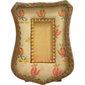 Lovely Small French Brocade Picture Frame c1915