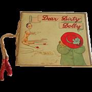 """Rare """"Dear Dirty Dolly"""" Catherine Ainslie Peg Doll Book Early 1908"""
