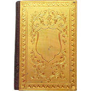 Miniature 1893 Gilt Cased Almanac For Doll