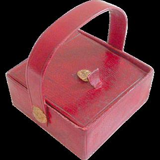 Regency Miniature Sewing Box  All Original c1820