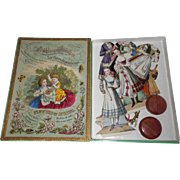 Early Boxed Paper Doll Set c1860