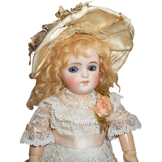 Beautiful Petite Sized German Bisque Doll For French Market c1900