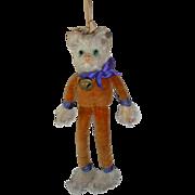 Rare Steiff Fluffiette Cat FF Button c1930