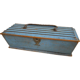 Unusual Cut Steel Mounted Box c1870