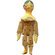 Tiny Grodnertal Wooden Doll c1830