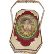 French Eglomise And Card Perfume Basket c1860