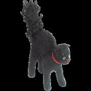 Sweet Old Steiff Black Scared Cat For Halloween c1930