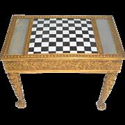 Miniature Palais Royale Enamel & Ormolu Games Table c1820