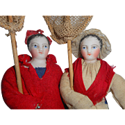 *On Hold for C* Gaultier French Folklore Dolls All Original 1870