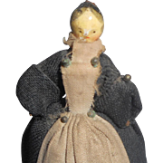 Small Grodnertal Doll Dressed As A Maid c1830