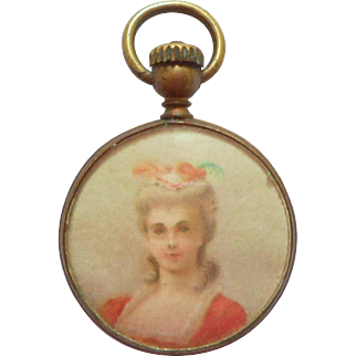Antique Doll Size Watch Moving Hands c1900