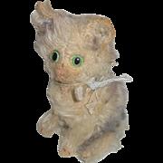Adorable Steiff Fluffy Cat Huge Eyes c1920