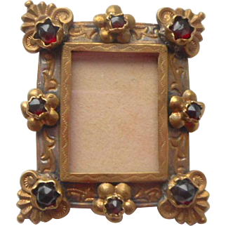 Fine Victorian Miniature Jewelled Frame c1890