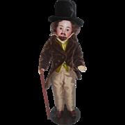 Antique German Male Doll Fabulous Costume c1910