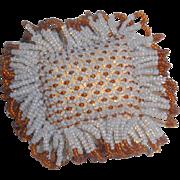 Tiny Beadwork Pin Cushion c1860
