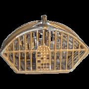 German Soft Metal Hanging Bird Cage c1910