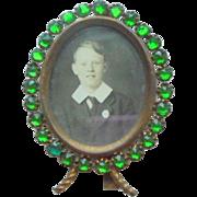 Emerald Green Miniature Frame c1910
