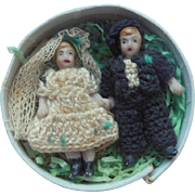Carl Horn Bride & Groom Bisque Dolls