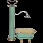 Rare Tinplate Plunger Shower & Bath Tub c1910