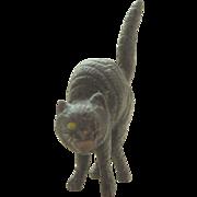 Antique Cold Painted Bronze Black Cat c1910