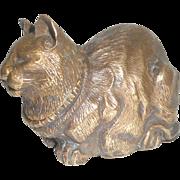 Antique Figural Cat Inkwell c1890