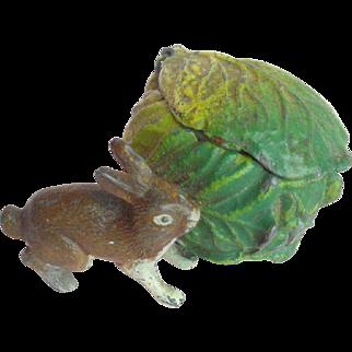 Rabbit & Cabbage Inkwell c1915
