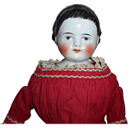 Antique Alice Band Hairstyle China Doll c1860