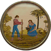 Miniature French Eglomise Box c1840
