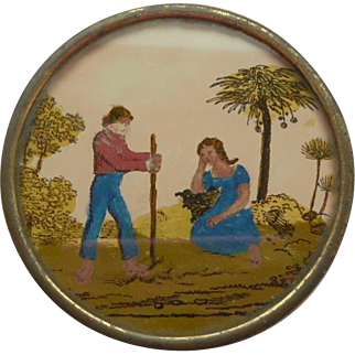 Miniature French Eglomise Box c1840