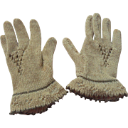Scarce Factory Cotton Knit Gloves For Huret c1870