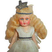 Small Armand Marseille Bisque head Fairy Doll c1915