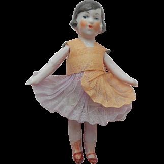 German Bisque Flapper Dolls House Doll c1920
