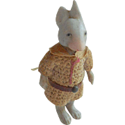 Dressed Bisque Hertwig Mouse With Tail c1910