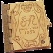 Gilt Metal Souvenir Book Coronation 1953