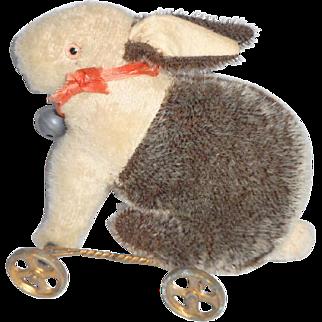 Rabbit On Metal Wheels c1915