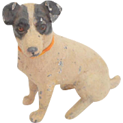 Miniature Cold Painted Jack Russell Terrier Dog c1915