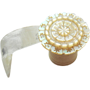 Mother Of Pearl Silk Tape Measure c1840