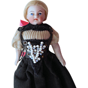 Small Kling Doll In Folklore Costume c1900