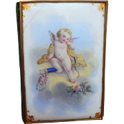Beautiful French Porcelain Cased Aide Memoire c1860
