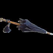 Jumeau Dog Head Handle parasol c1900