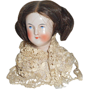 Early Wigged China Shoulderhead For Repair c1850